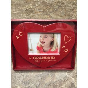 Grandkid Fills Your Heart Ceramic Picture Frame